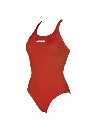 Arena  Solid Swim Pro Kadın Yüzücü Mayosu Kırmızı